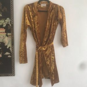 Club L London Golden Velvet Dress
